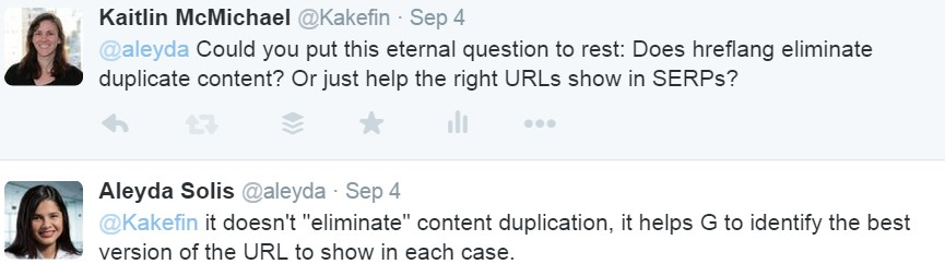 hreflang will not eliminate duplicate content