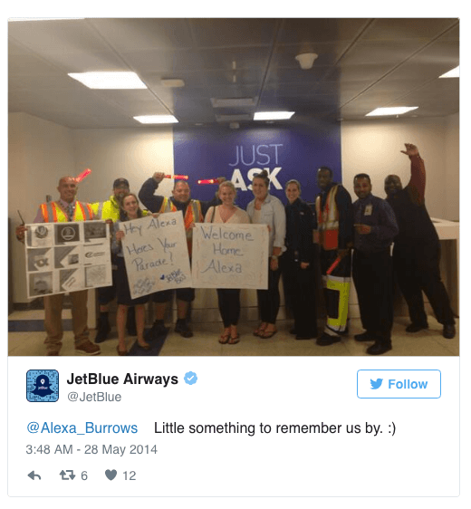 Jetblue customer relationship
