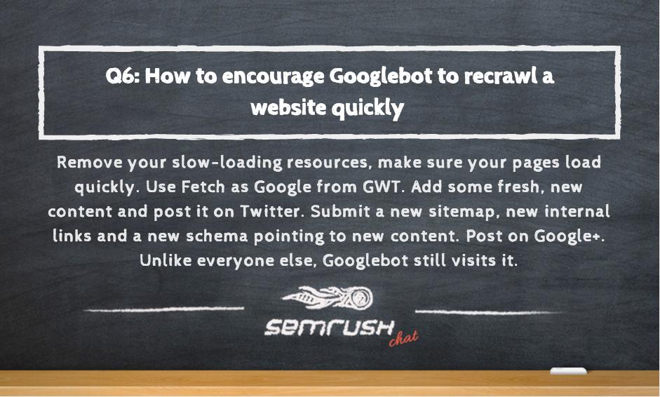Encouraging Google to recrawl a website