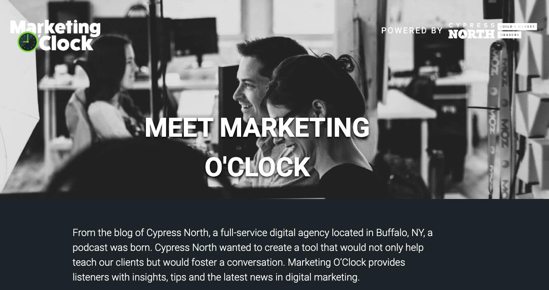 Marketing O'Clock podcast