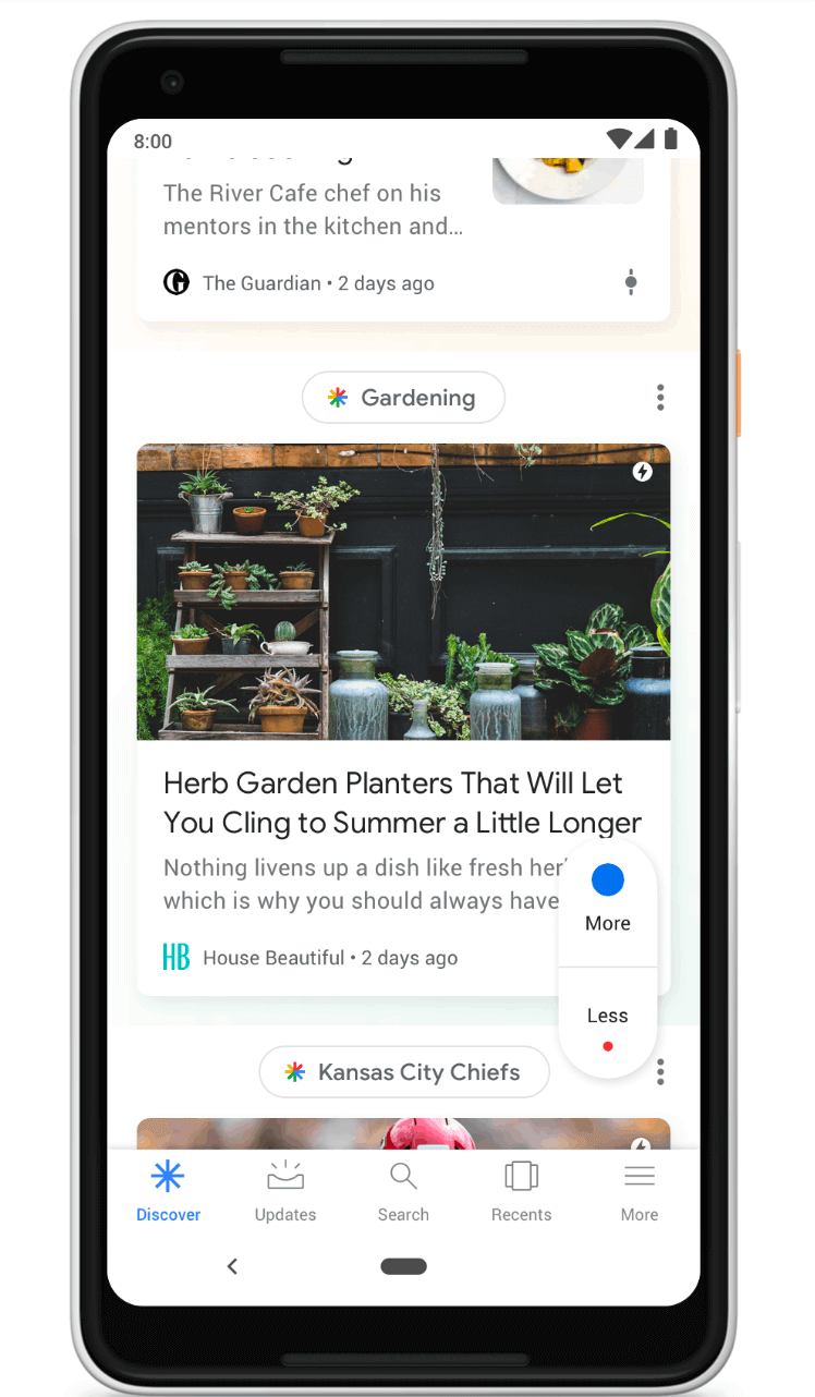 Google Feed is now Discover