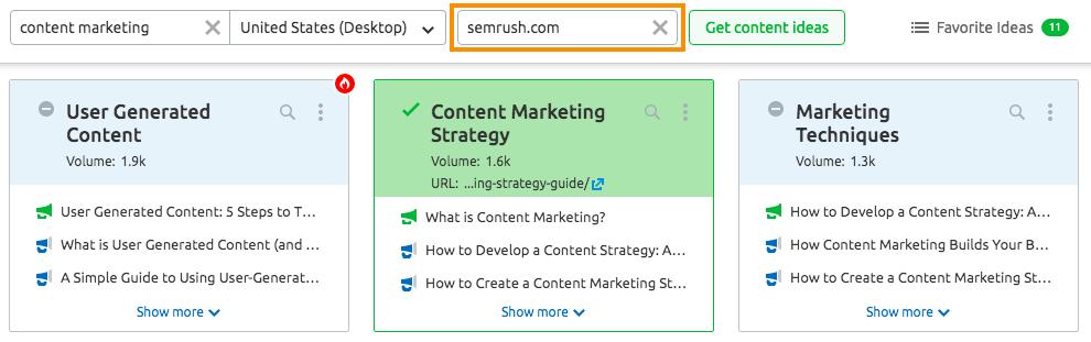Cómo usar SEMrush para marketing de contenidos. Imagen 11
