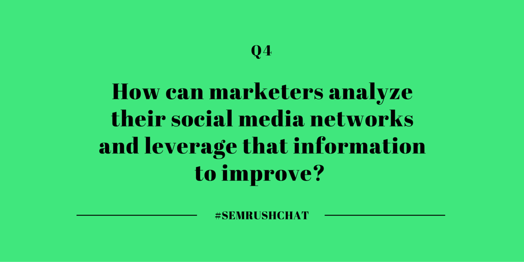 How to analyze their social media networks and leverage that information to improve?