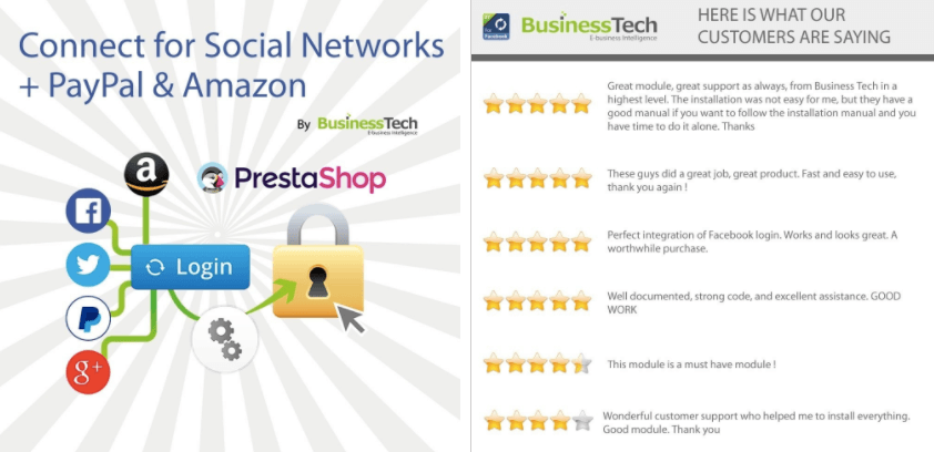 Prestashop: Modulo Connect per Social Networks