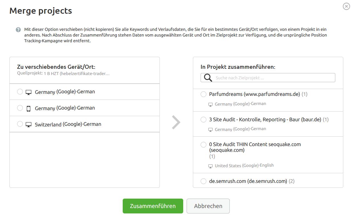 Website und Keyword Ranking abfragen, analysieren und überprüfen. Bild 4