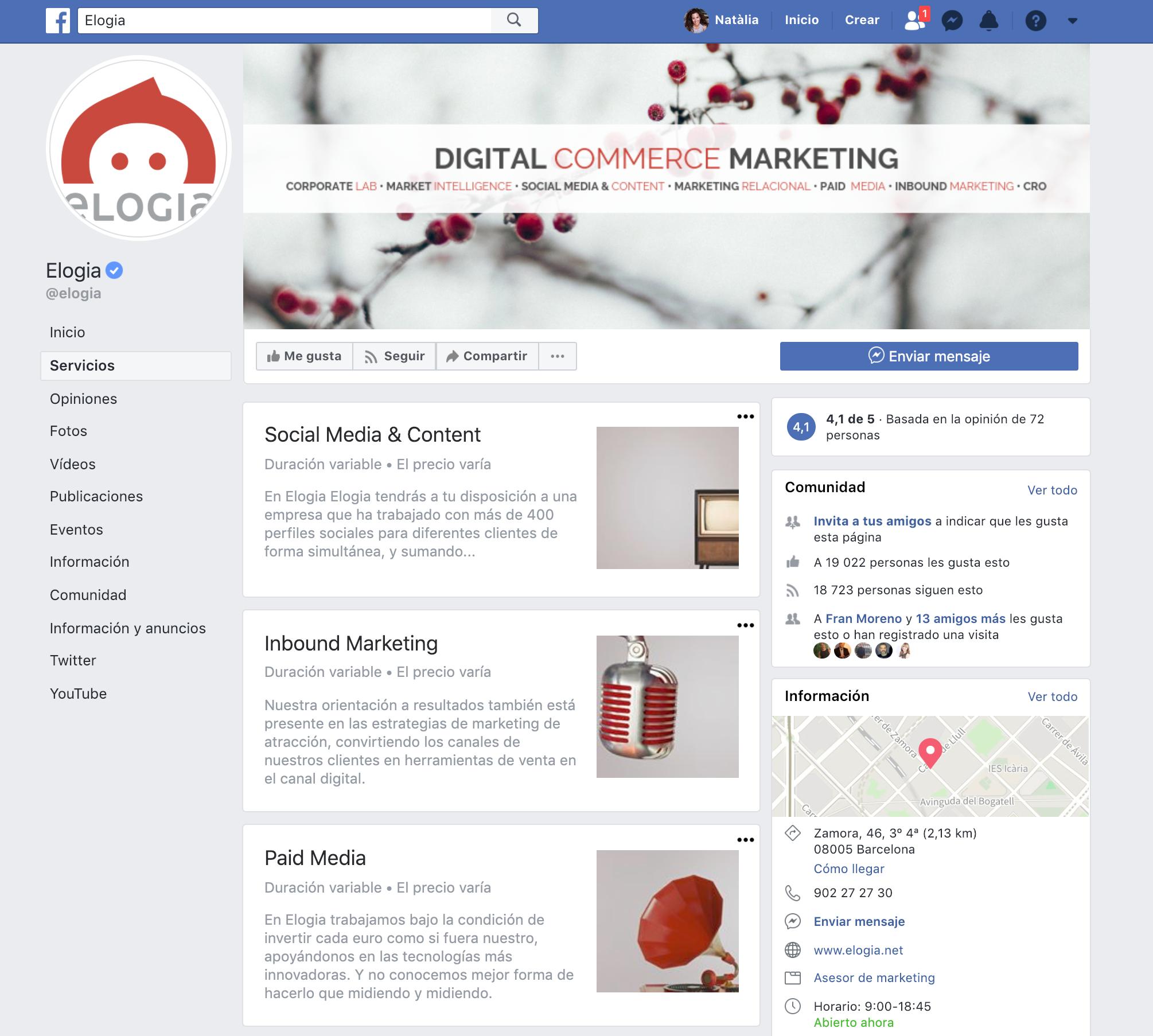 Bios para perfiles de redes sociales - Caso Elogia