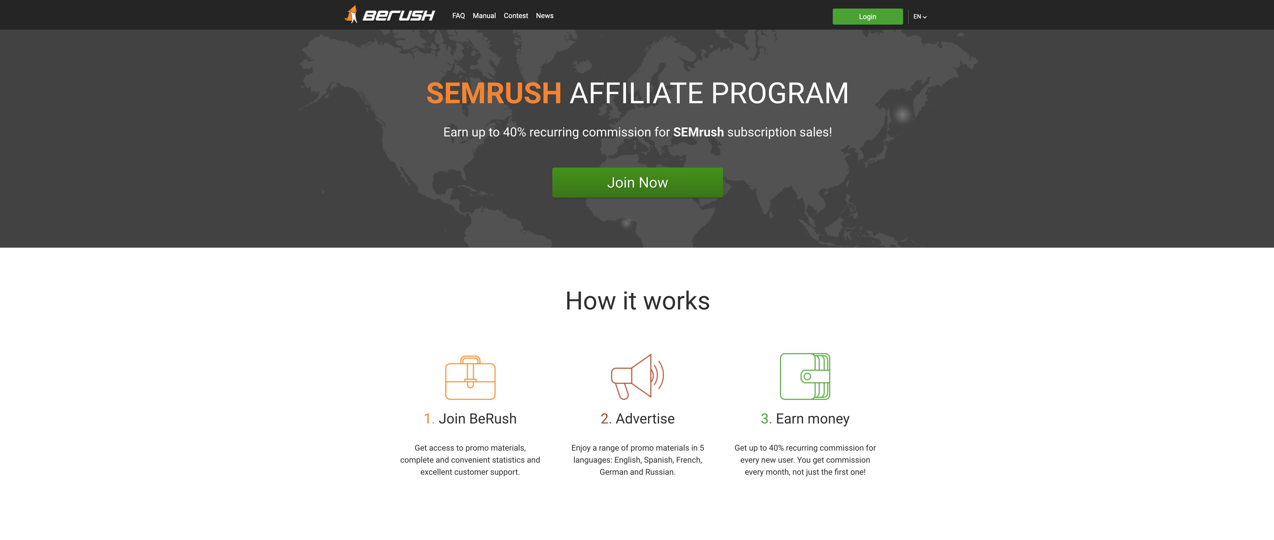 BeRush SEMrush tool