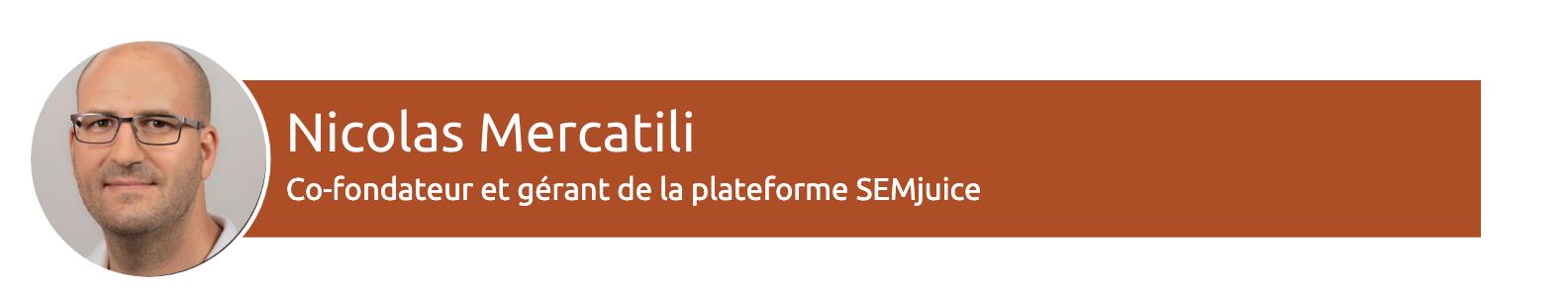 Nicolas Mercatili, CreaNico, sur SEMrush / netlinking