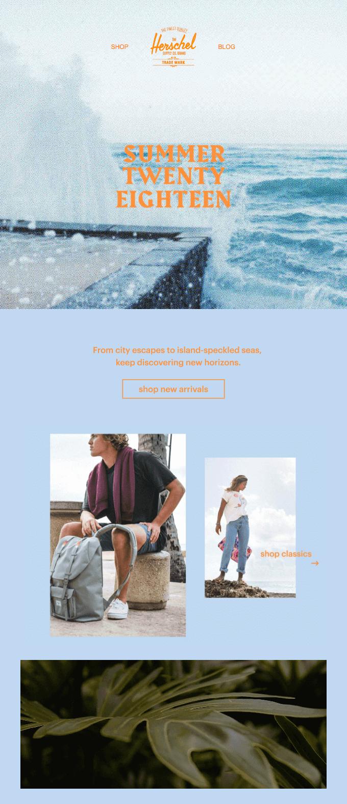 Email marketing per l'estate: la veste grafica