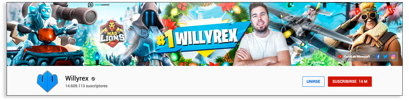 Youtubers gamers - Willyrex