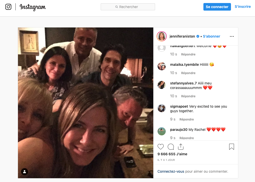 Jennifer Anniston Instagram