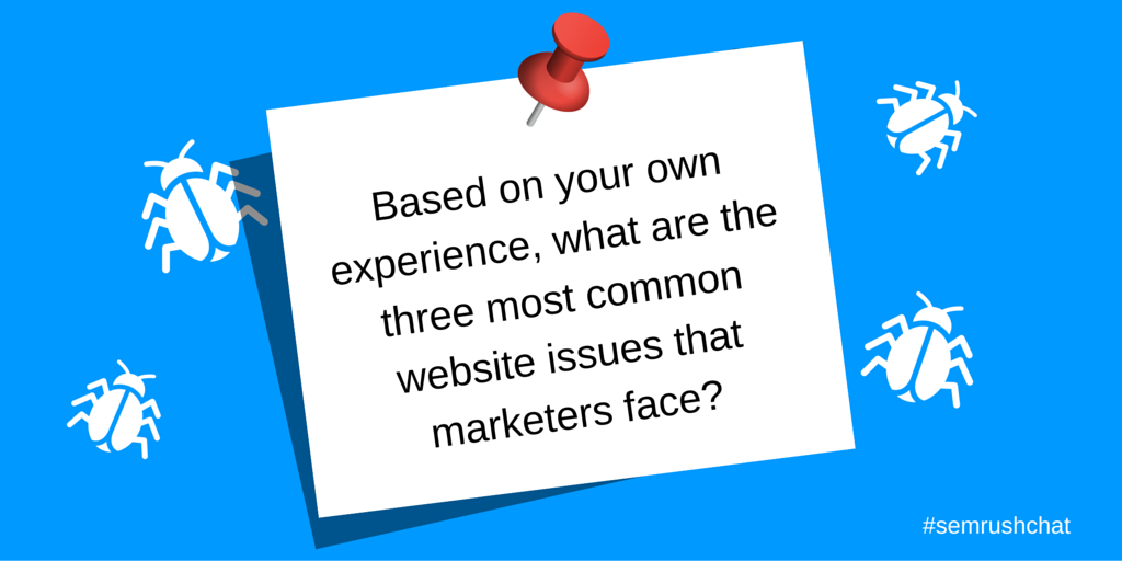 Most common website issues