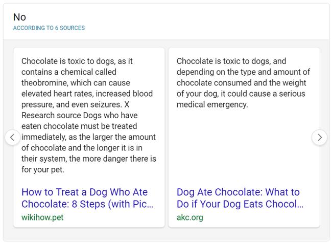 Bing réponse binaire oui non extraits en vedette