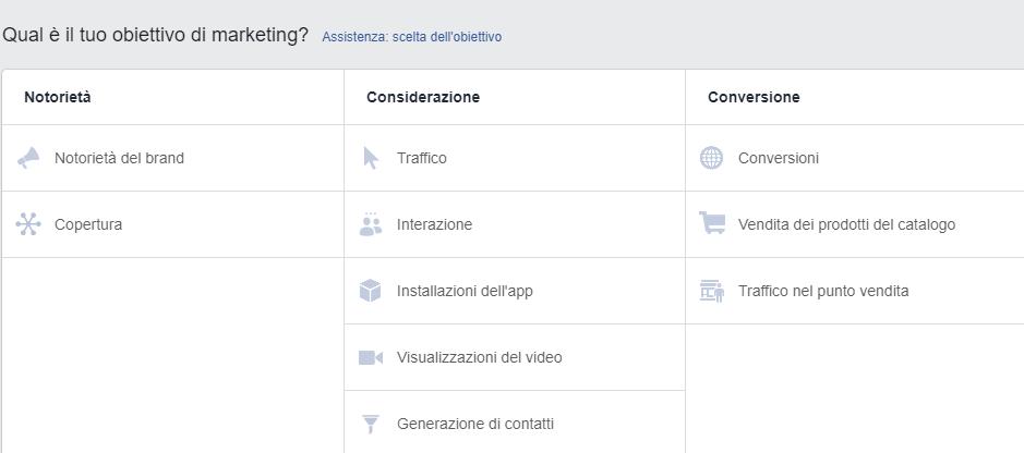 Come impostare un obiettivo su Facebook Business Manager