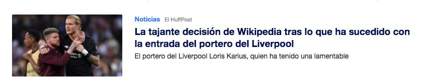 Qué es el Clickbait - Ejemplo de Yahoo.es