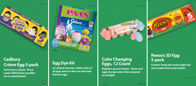WalMart promoted its Easter festive treat through Snapchat