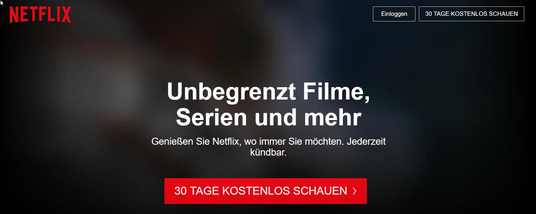 Netflix: CTA verspricht kostenlosen Probemonat