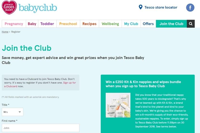 baby club, esempio uso di un CRM