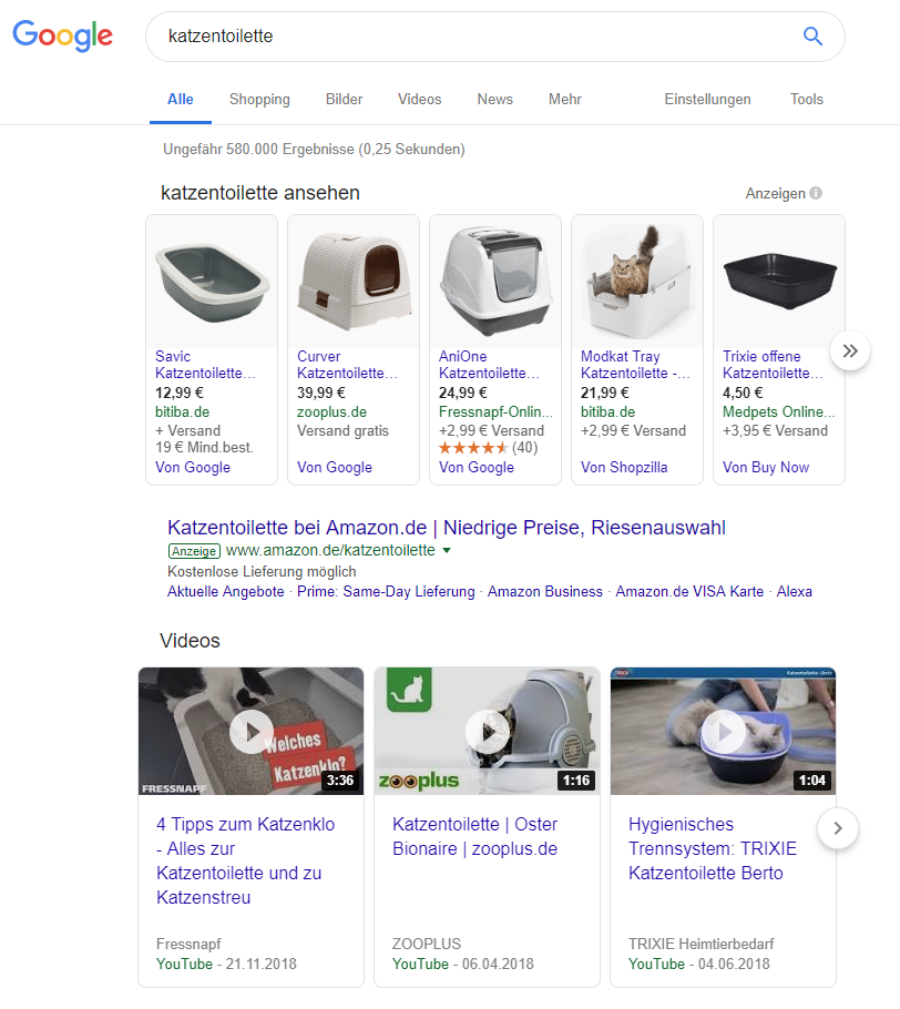 Google-Suchergebnis für 'Katzentoilette'