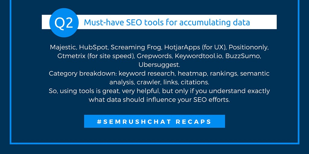 Must-have SEO tools for accumulating data