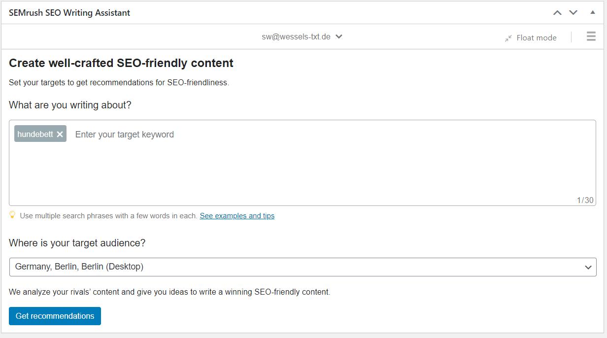 WordPress-Plugin SEO Writing Assistant