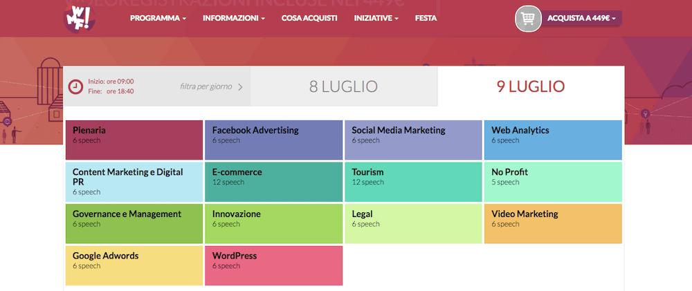 Web Marketing Festival: il programma del 9 luglio 2016