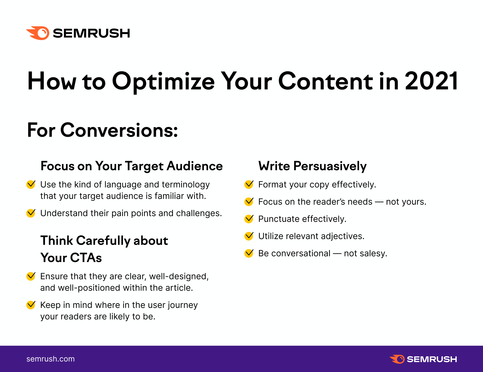 Infographic: content optimization - optimizing content for conversions