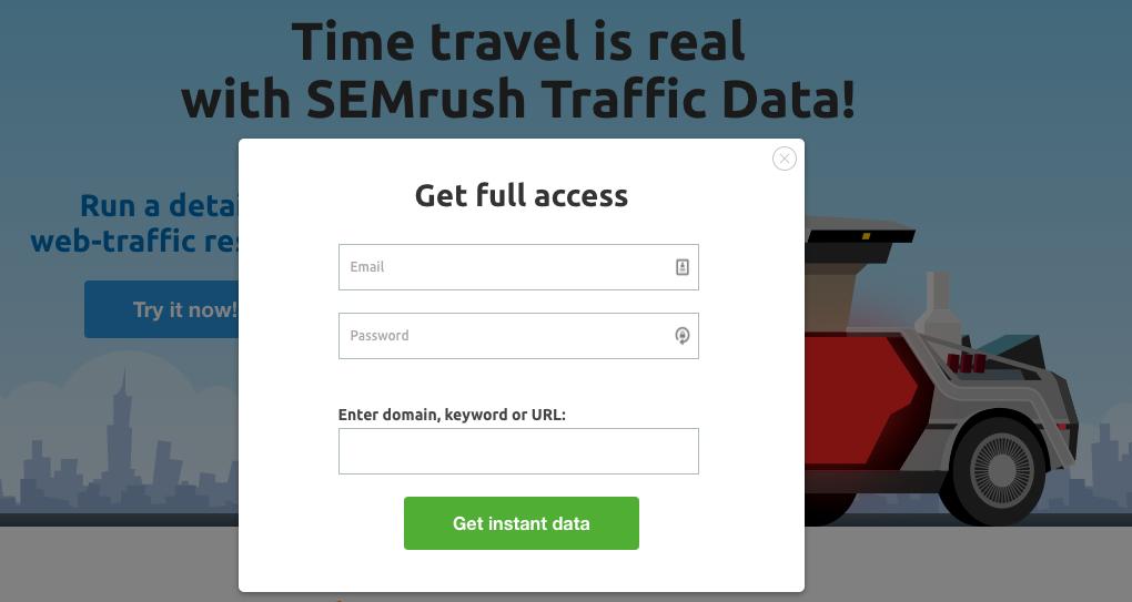 SEMrush Website Traffic experiment - after