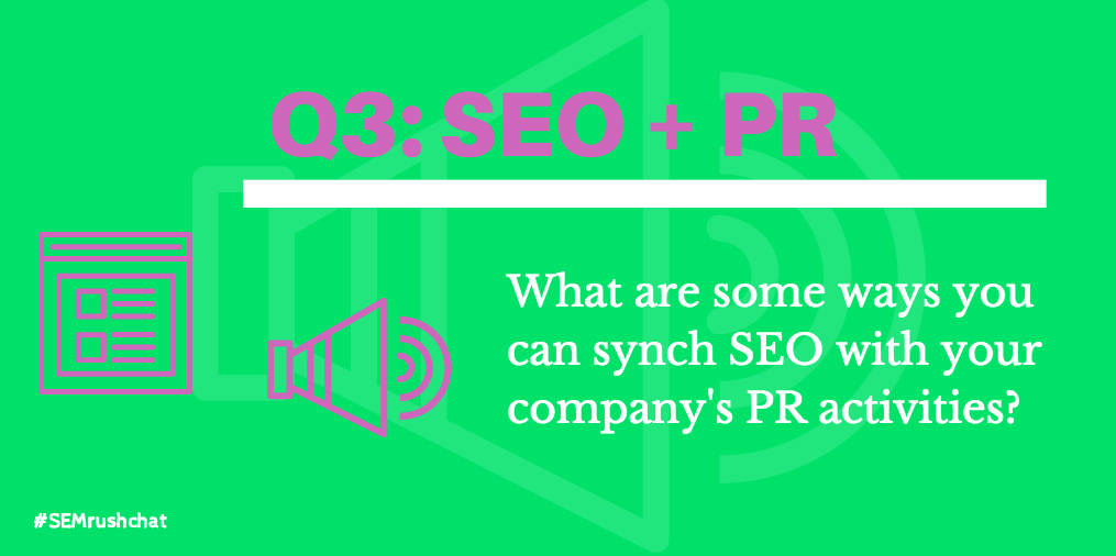What are some ways you can sync SEO with your company's PR activities
