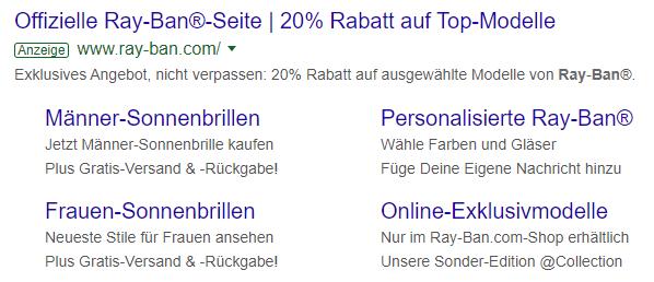 Google Ads: Anzeigenerweiterungen