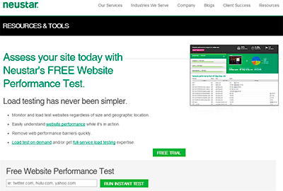 Neustar: Test de velocidad de carga web