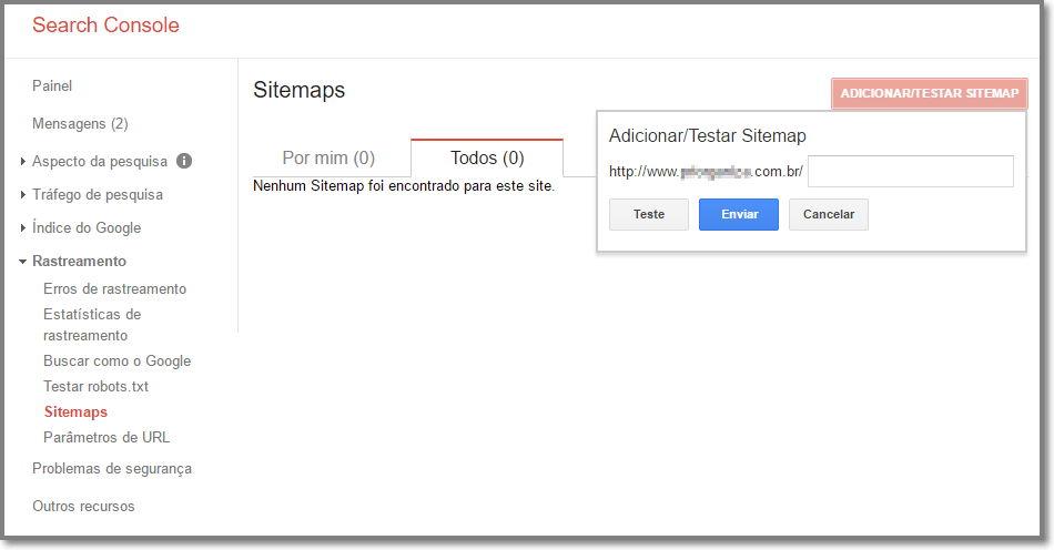 Envie seu Sitemap para o Google Search Console