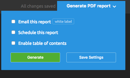 My Reports scheduling