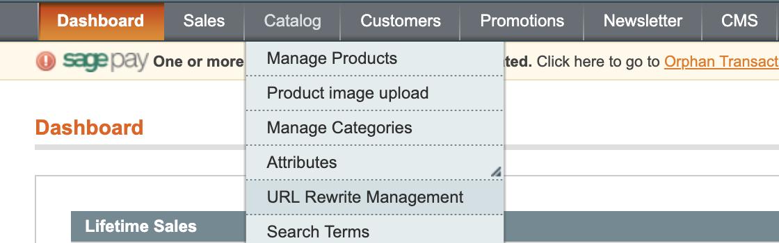 URL Rewrite Management im Shop-System Magento