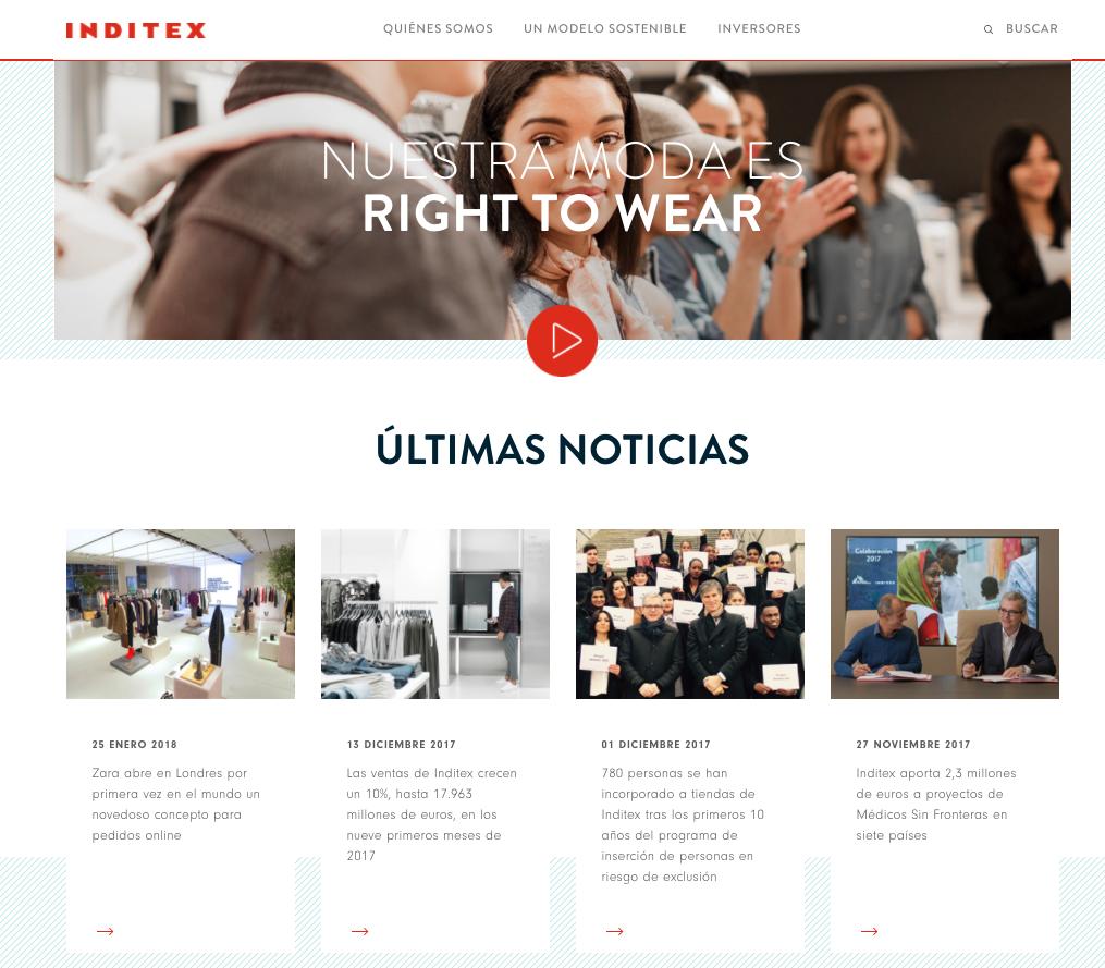 Cómo medir una página web - Inditex