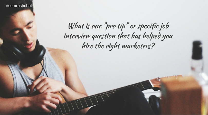 """Pro tip"" interview questions"