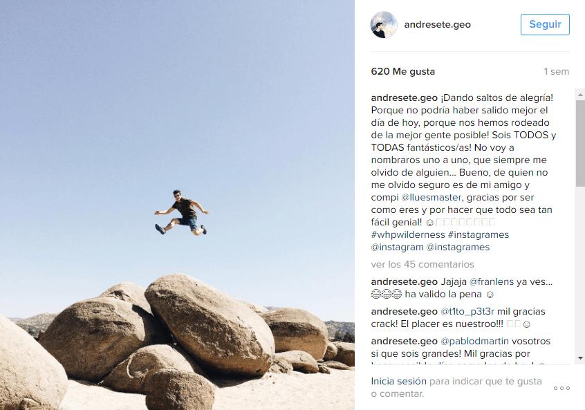 Acciones Instagram - incluir personas