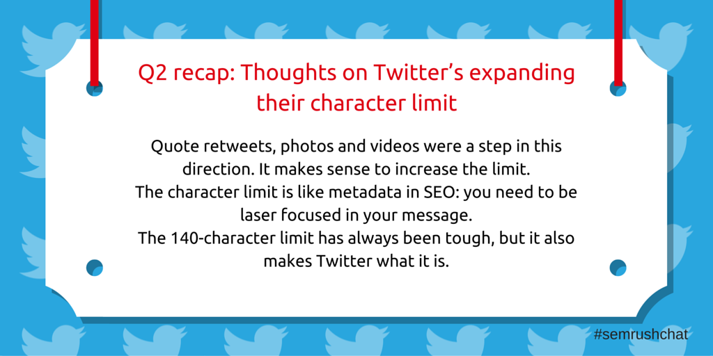 Thoughts on Twitter's expanding their character limit
