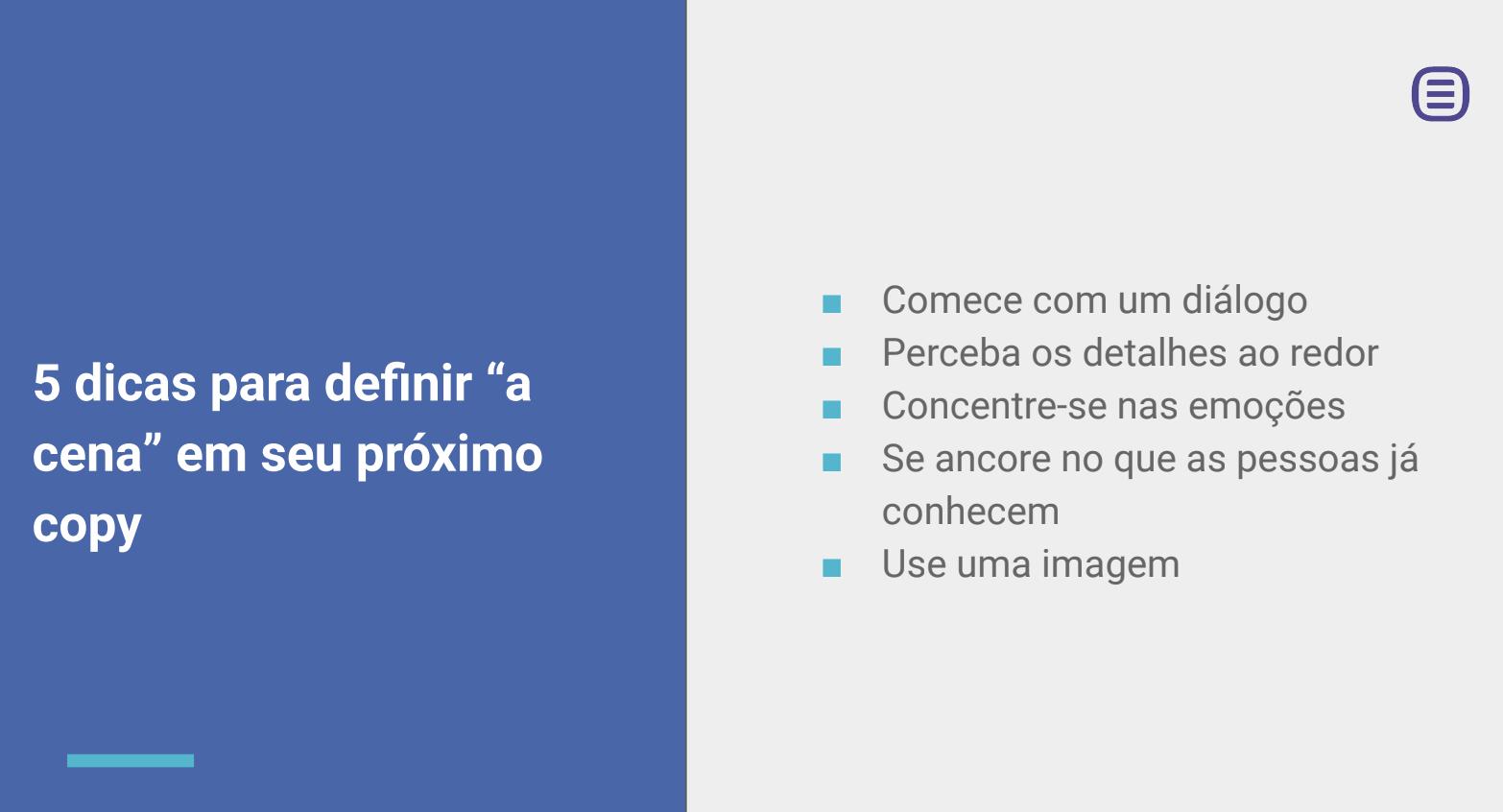 Copywriting: Dicas Avançadas [Webinar em 5 Slides ]. Imagem 4
