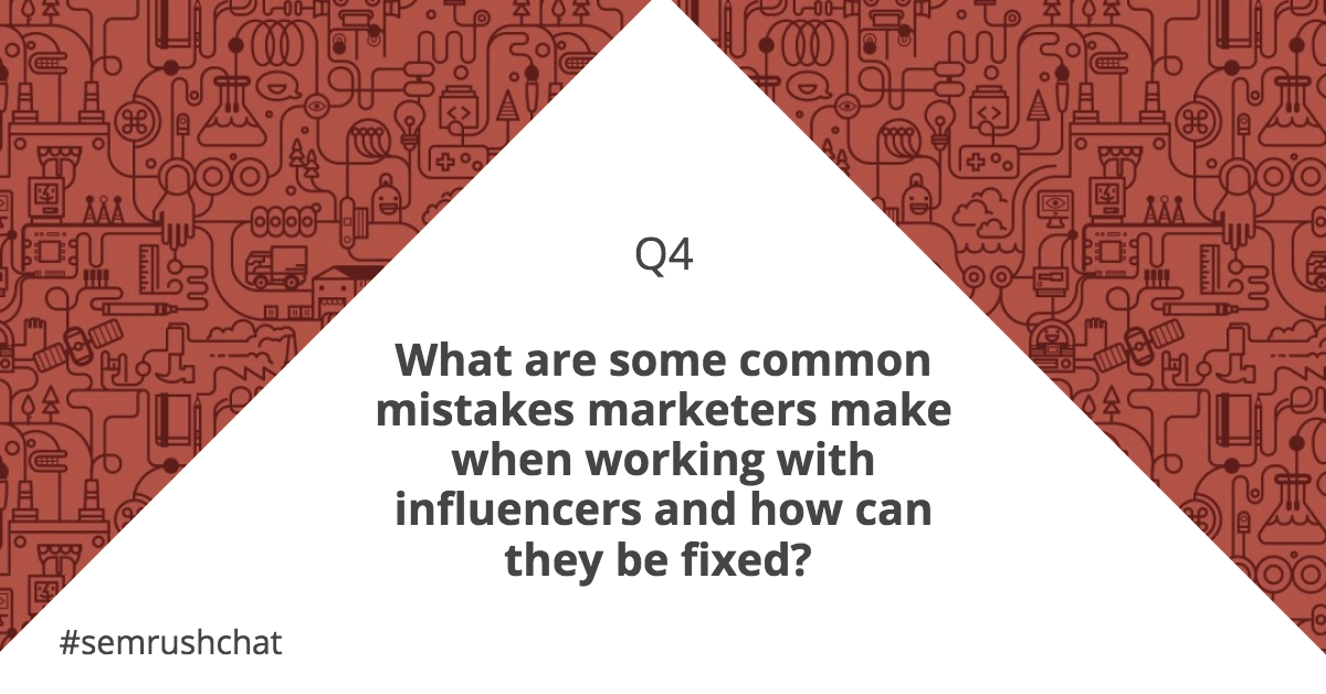 Common mistakes in influence marketing