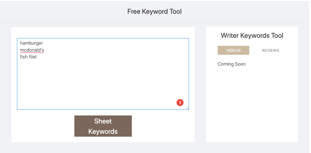 keyword sheeter keyword research