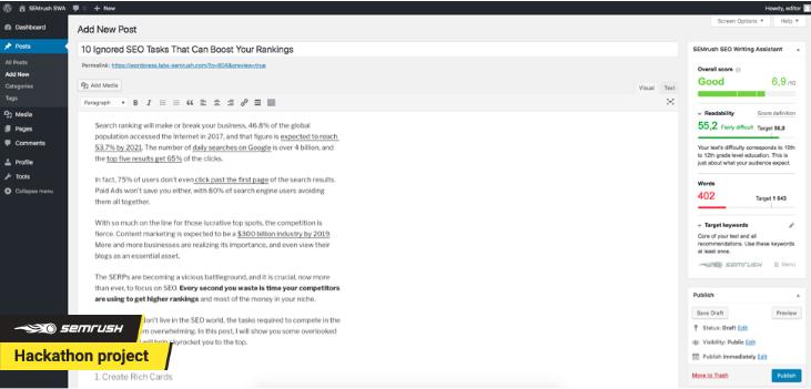 SWA WordPress Plugin