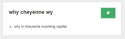 Why Cheyenne? on AnswerThePublic