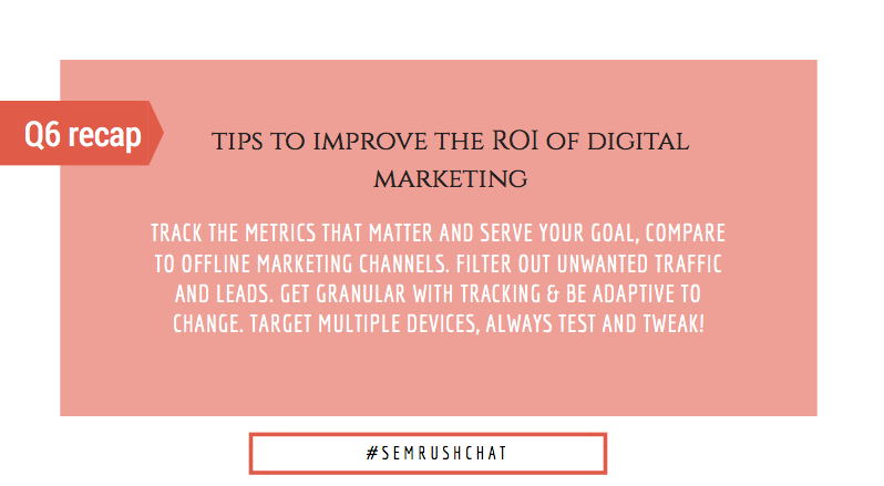 Tips to improve the ROI of digital marketing