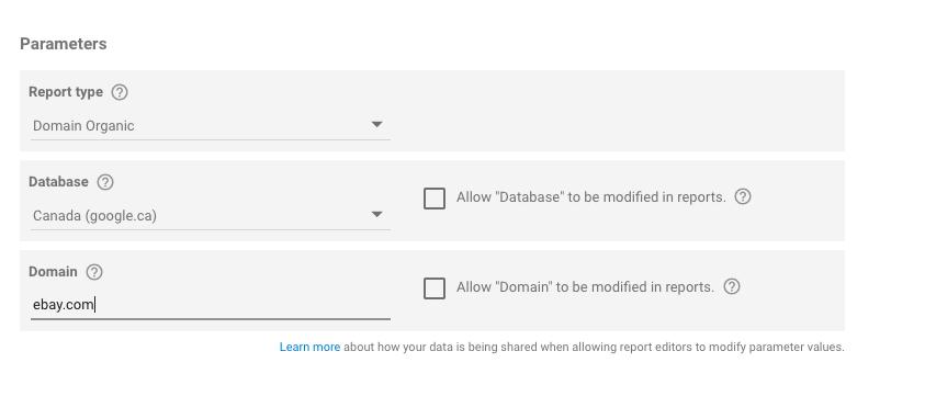 Integration von SEMrush und Google Data Studio - Anleitung. Bild 3