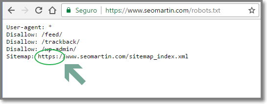 Atualize o Sitemap.xml em seu arquivo robots.txt