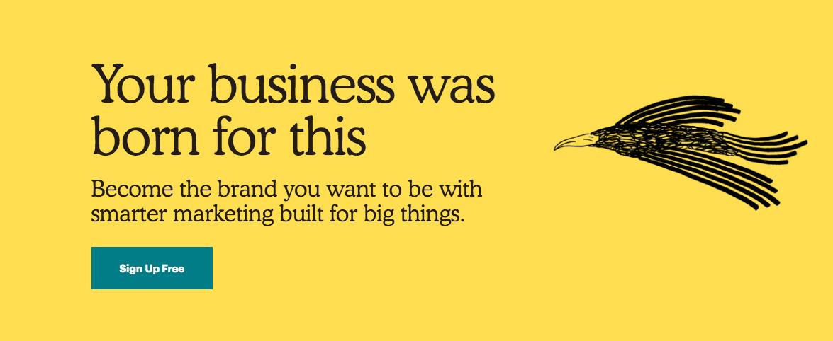 Esempio di web design con tipografia personalizzata