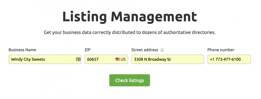 SEO local - Listing management