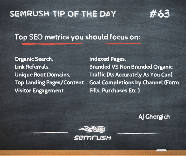 #63 AJ Ghergich top seo metrics to focus on