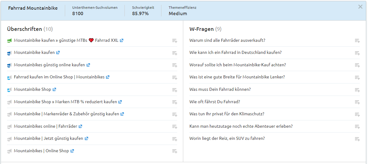 Topic Research: W-Fragen als Longtail-Keywords